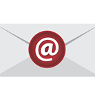Envelope with @ sign